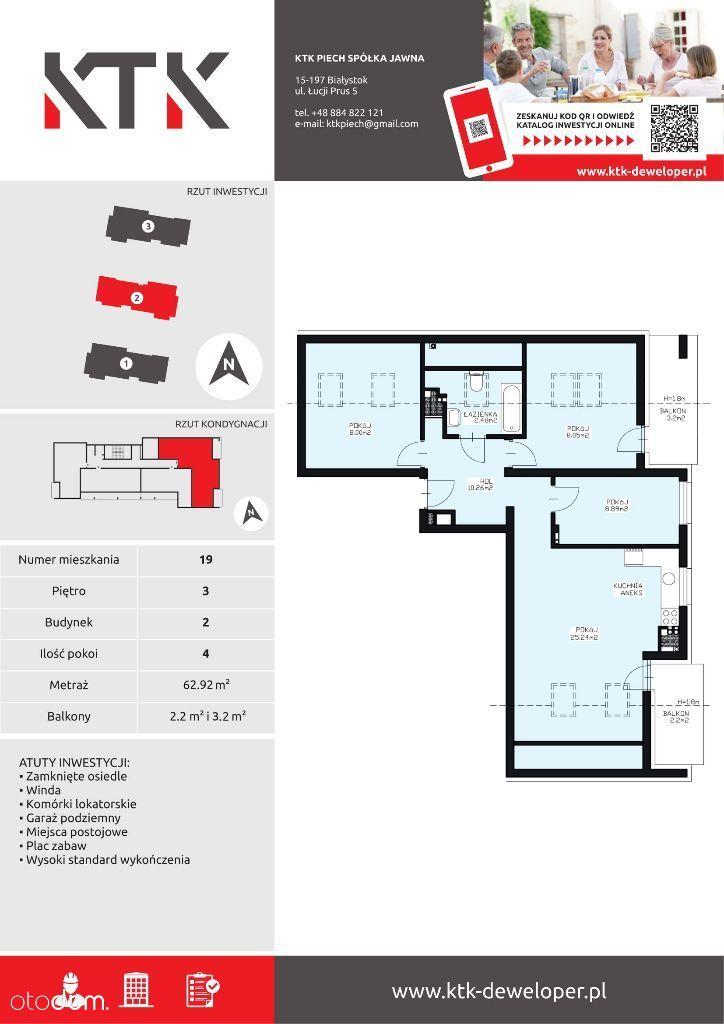 Mieszkanie na sprzedaż, Białystok, Wygoda - Foto 1