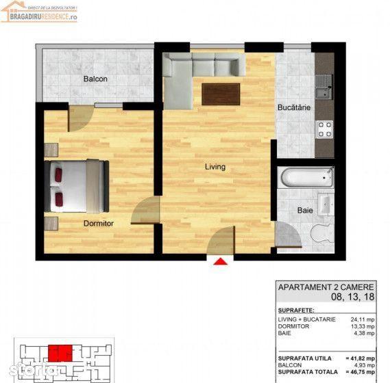 Apartament de vanzare, Bragadiru, Bucuresti - Ilfov - Foto 4