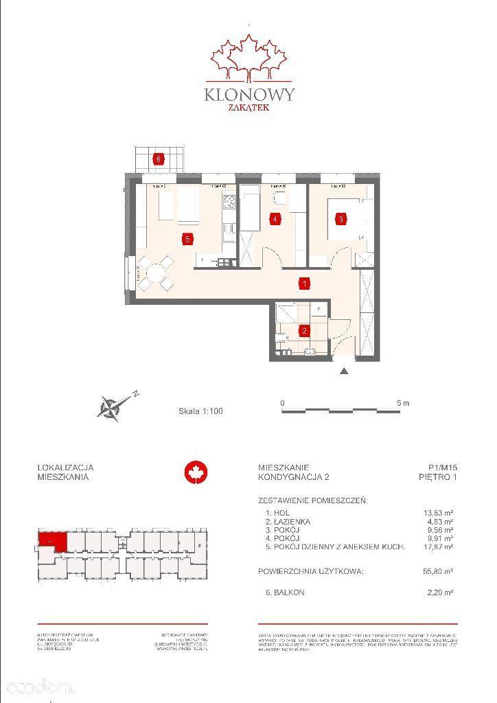 Mieszkanie na sprzedaż, Kamieniec Wrocławski, wrocławski, dolnośląskie - Foto 1012