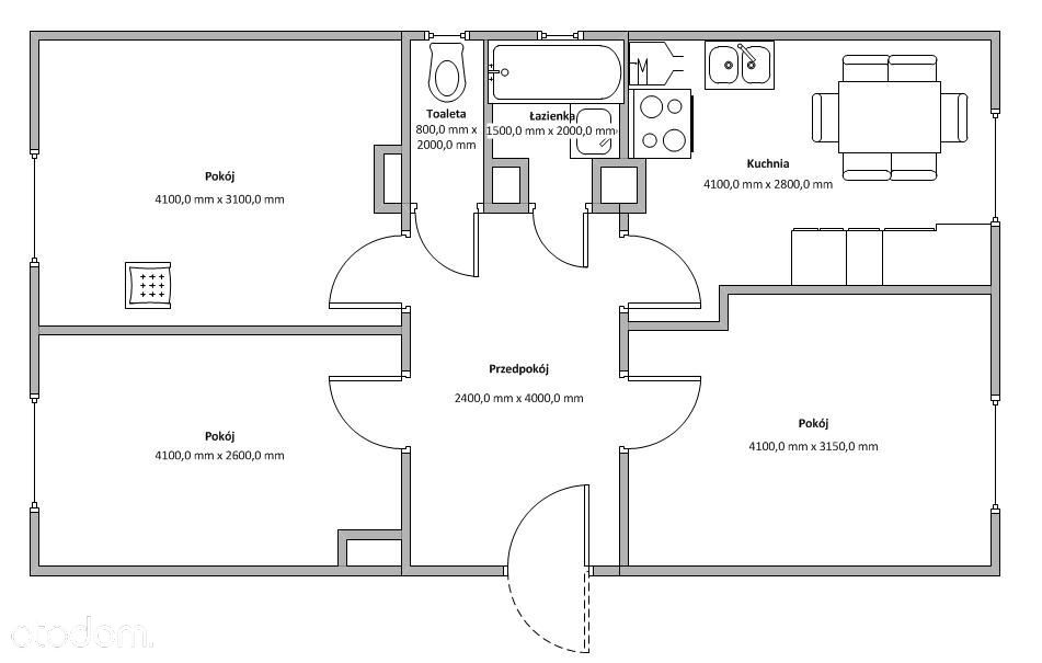 Mieszkanie na sprzedaż, Cibórz, świebodziński, lubuskie - Foto 1