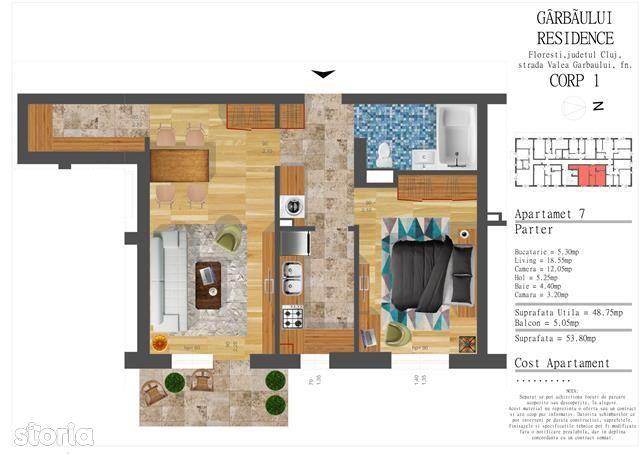 Apartament de vanzare, Cluj-Napoca, Cluj, Floresti - Foto 1