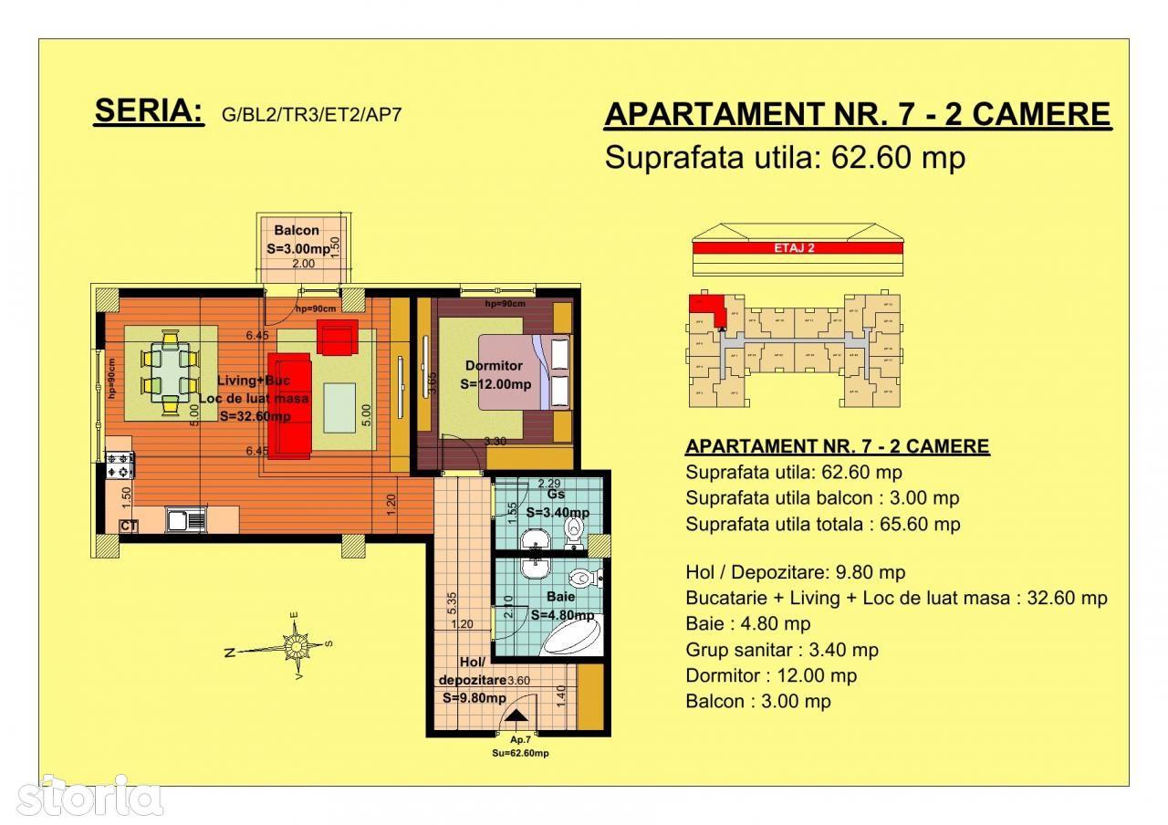 Apartament de vanzare, Brașov (judet), Strada Nicoale Labiș - Foto 1