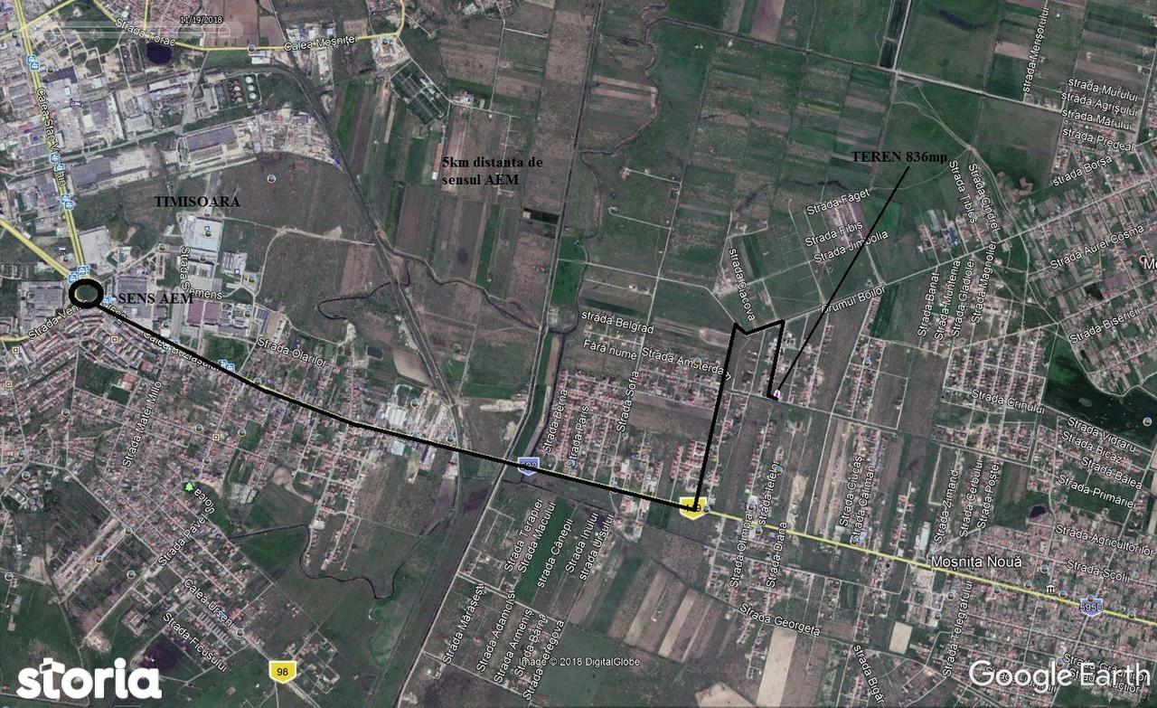 Teren de Vanzare, Timiș (judet), Strada Concordiei - Foto 2