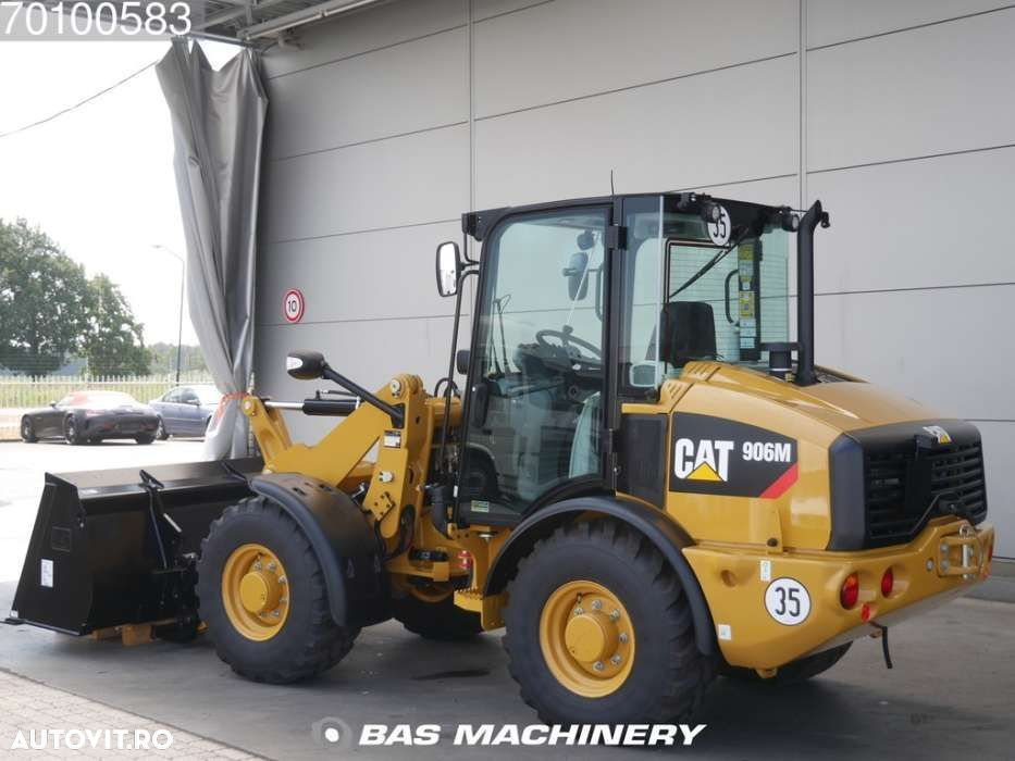 Caterpillar 906 M Bucket and forks - ride controle - warranty - 2
