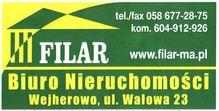 To ogłoszenie dom na sprzedaż jest promowane przez jedno z najbardziej profesjonalnych biur nieruchomości, działające w miejscowości Bolszewo, wejherowski, pomorskie: Filar M. i A. Brudnowscy