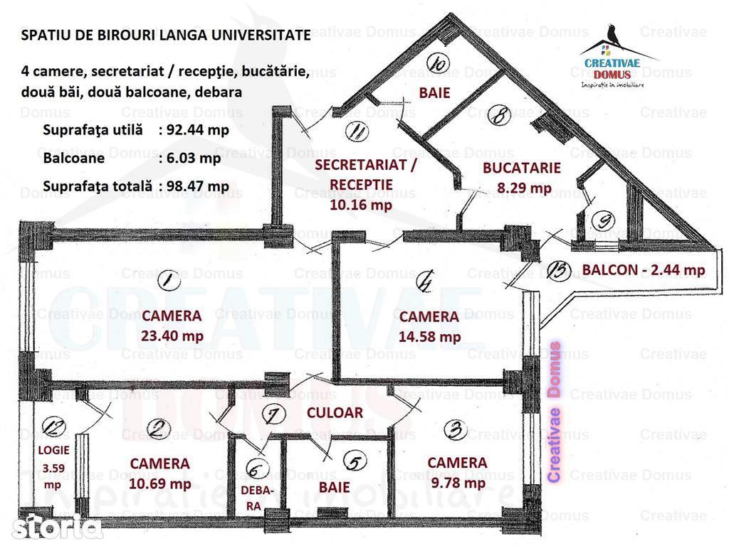 Birou de inchiriat, Bucuresti, Sectorul 1, Universitate - Foto 15