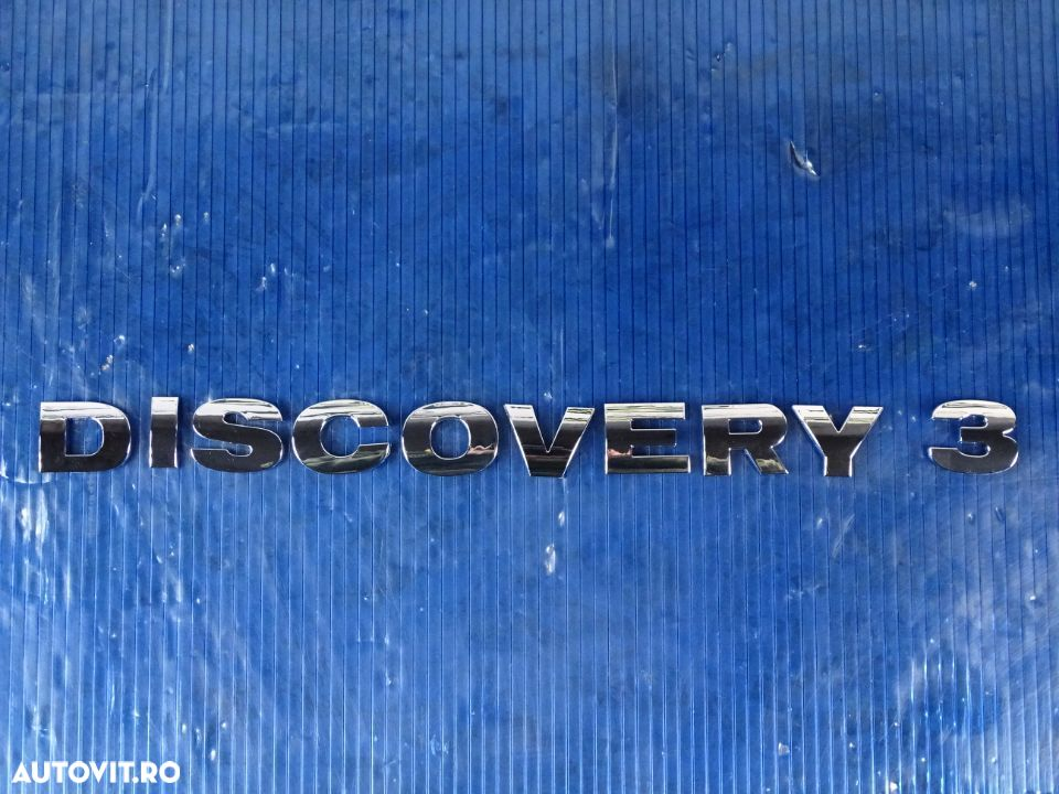 Litere scris emblema Land Rover Discovery 3 crom - 1