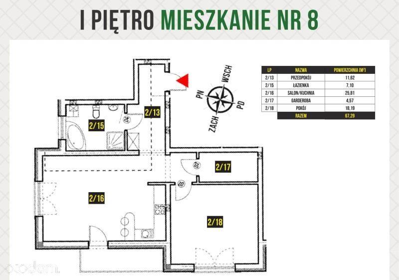 Mieszkanie na sprzedaż, Skarszewy, starogardzki, pomorskie - Foto 1