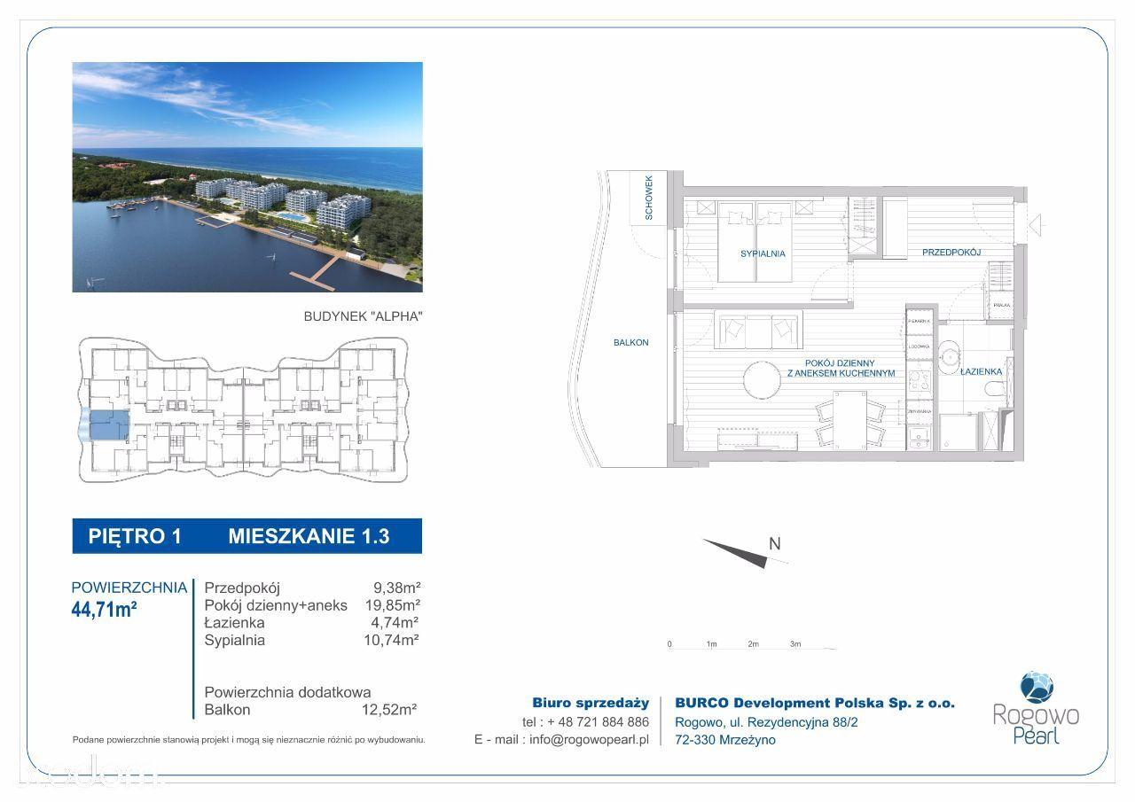 Mieszkanie na sprzedaż, Rogowo, gryficki, zachodniopomorskie - Foto 3