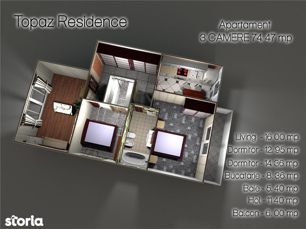 Apartament de vanzare, Iași (judet), Strada Eugen Stătescu - Foto 7