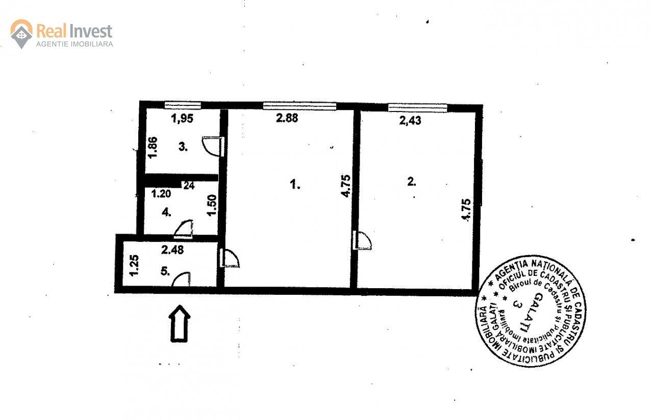 Apartament de vanzare, Galați (judet), Micro 40 - Foto 9