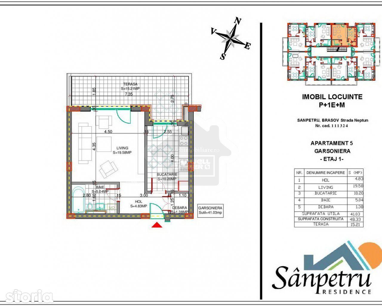 Apartament de vanzare, Sanpetru, Brasov - Foto 3