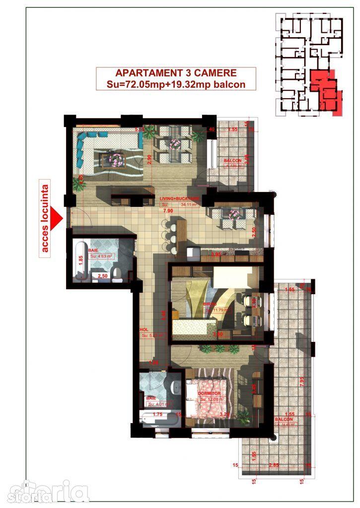 Apartament de vanzare, Iasi, Miroslava - Foto 2