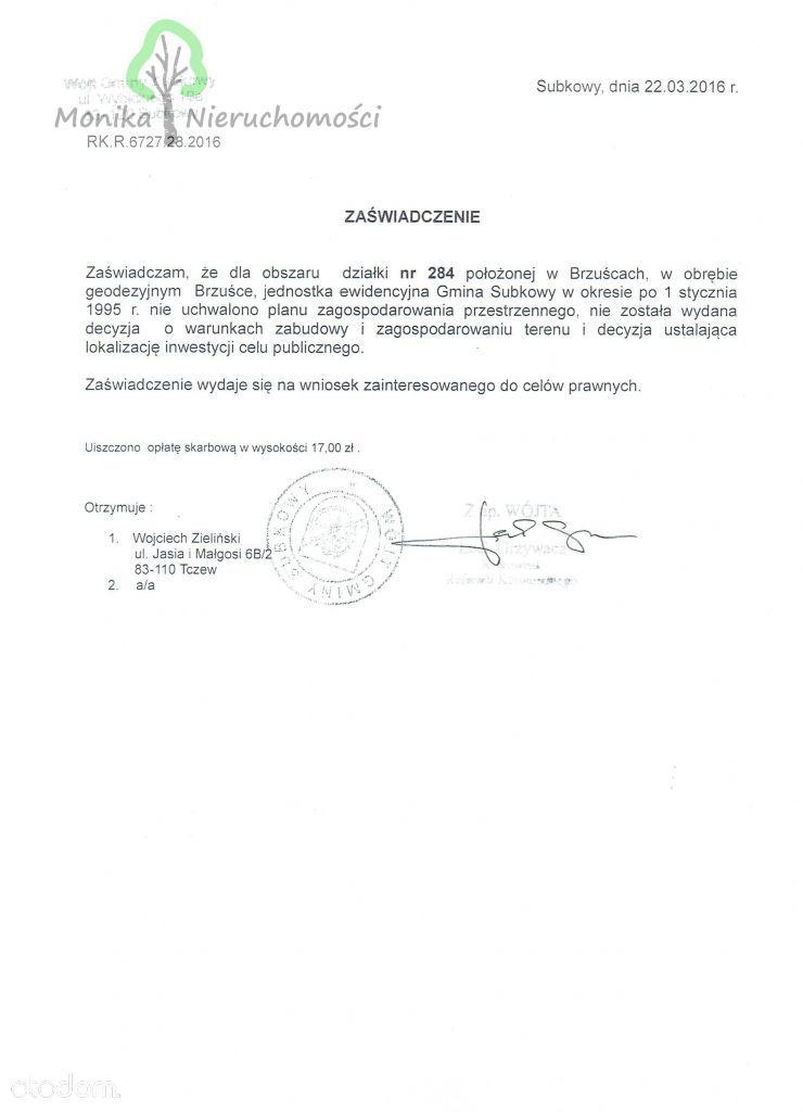 Działka na sprzedaż, Brzuśce, tczewski, pomorskie - Foto 9