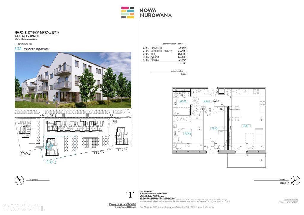 Mieszkanie na sprzedaż, Murowana Goślina, poznański, wielkopolskie - Foto 3