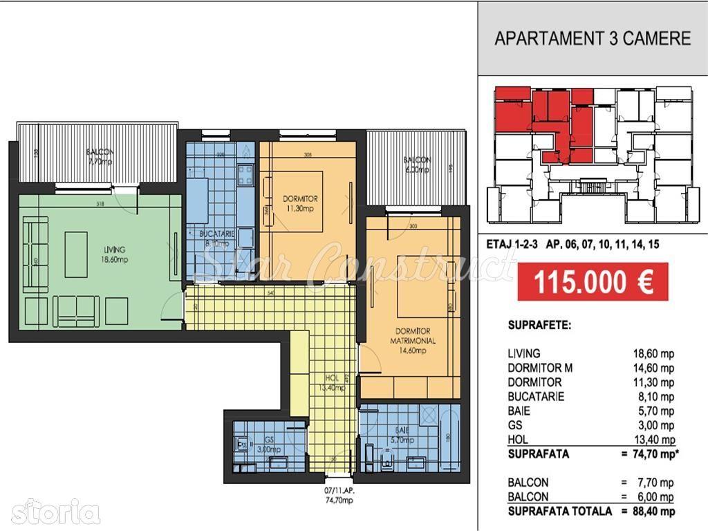 Apartament de vanzare, București (judet), Strada Alunișului - Foto 8