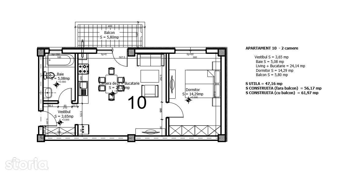 Apartament de inchiriat, Ilfov (judet), Otopeni - Foto 7