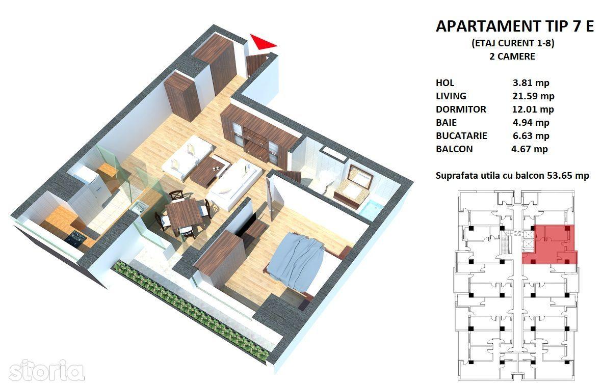 Apartament de vanzare, Constanța (judet), Sandu Chiosea - Foto 2