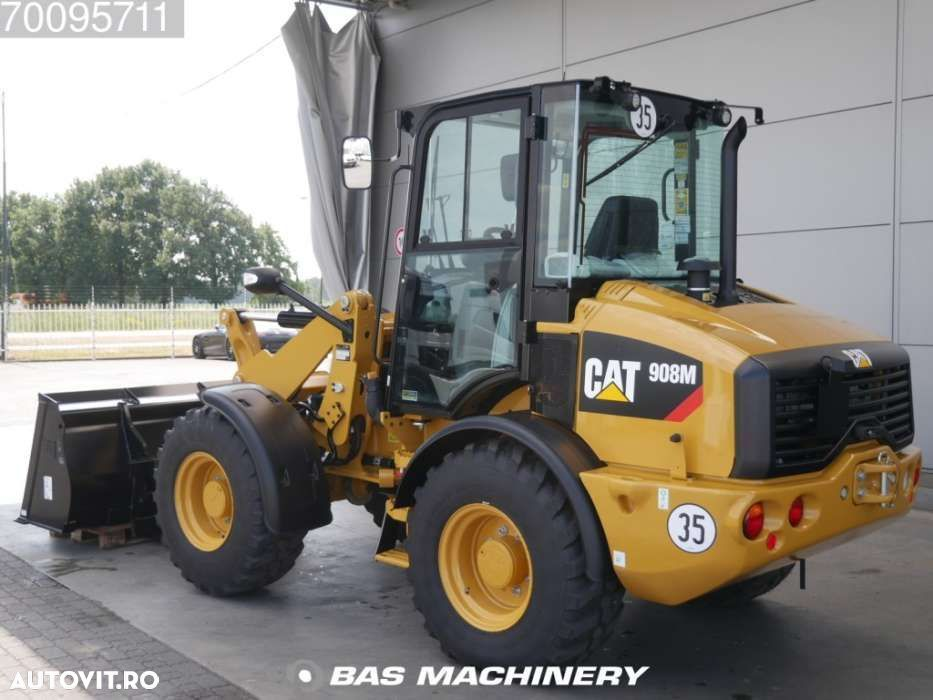 Caterpillar 908 M Bucket and forks - ride controle - warranty - 2