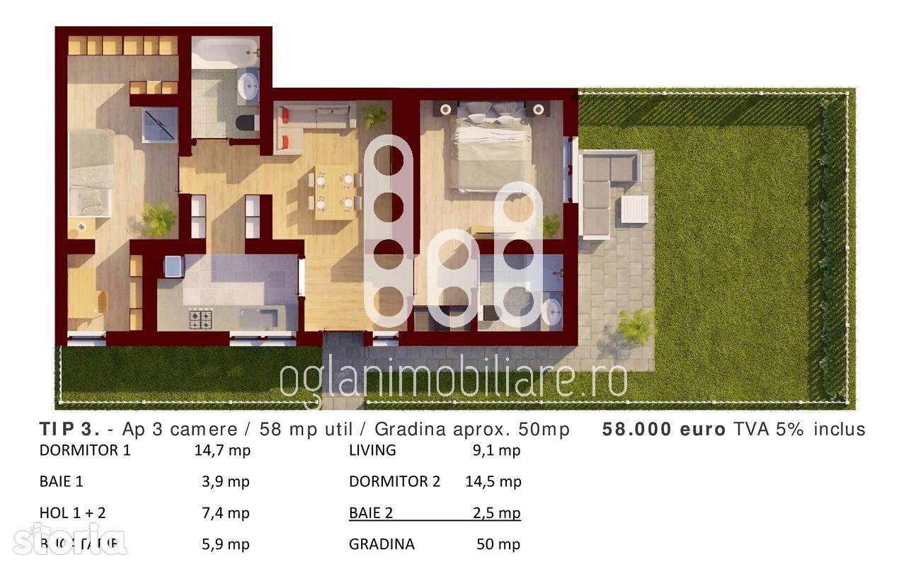 Apartament de vanzare, Sibiu (judet), Strada Ovăzului - Foto 3