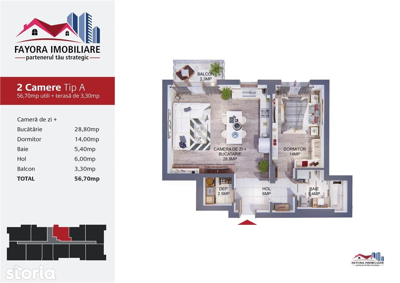 Apartament de vanzare, Mureș (judet), Strada Băneasa - Foto 2
