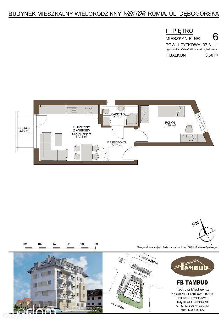 Mieszkanie na sprzedaż, Rumia, wejherowski, pomorskie - Foto 1014