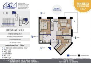 3 - pokojowe mieszkanie M103
