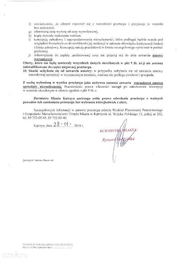 Działka na sprzedaż, Kętrzyn, kętrzyński, warmińsko-mazurskie - Foto 4