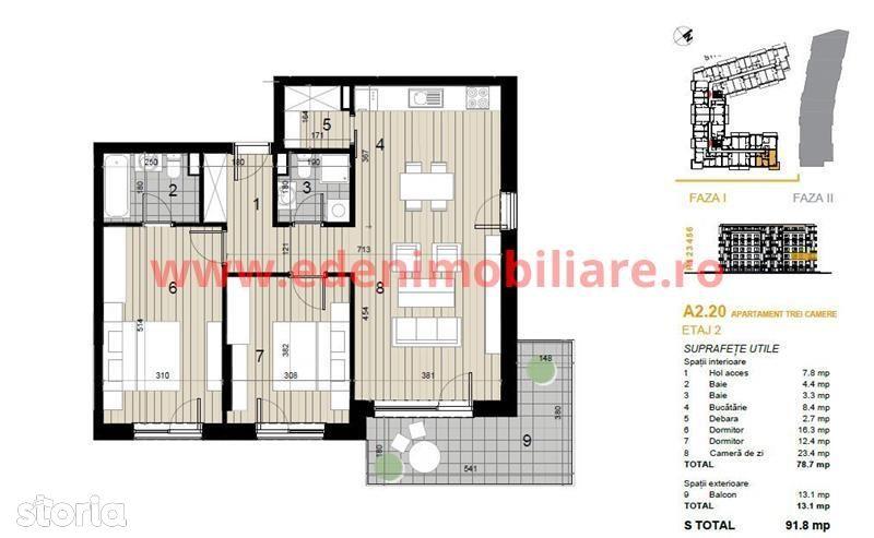 Apartament de vanzare, Cluj (judet), Strada Argeș - Foto 7