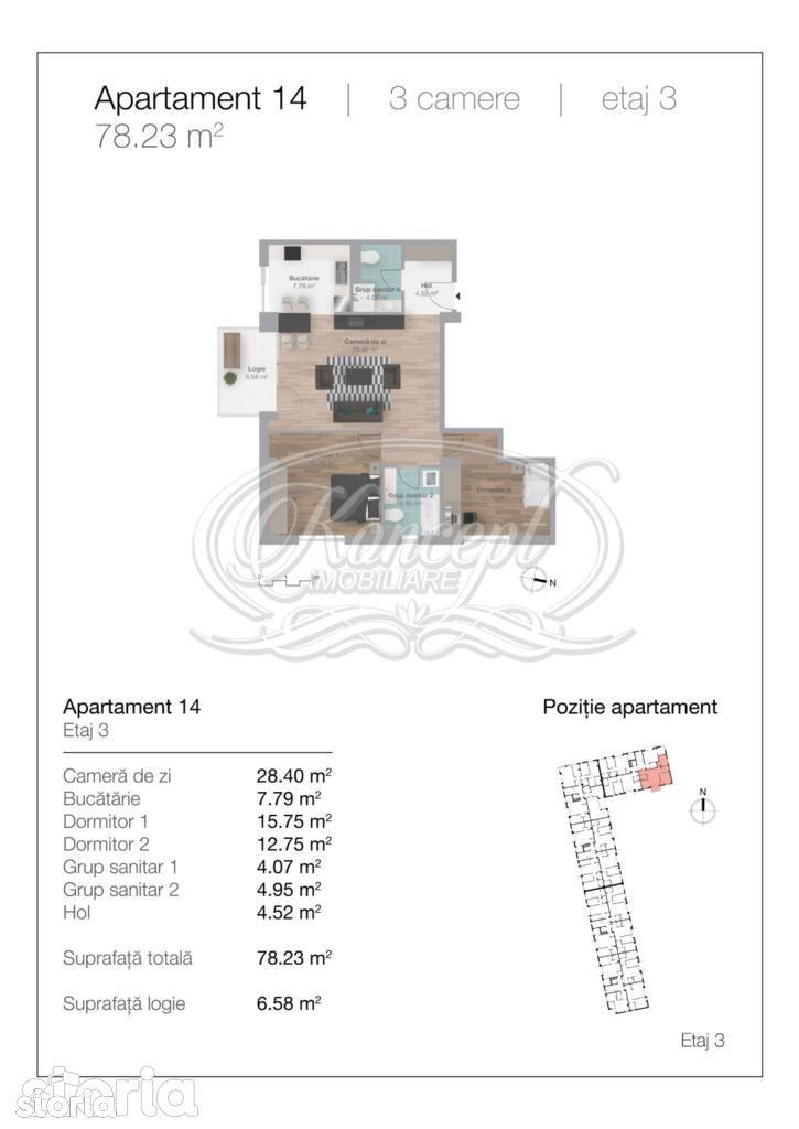 Apartament de vanzare, Cluj-Napoca, Cluj, Gheorgheni - Foto 12