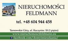 To ogłoszenie działka na sprzedaż jest promowane przez jedno z najbardziej profesjonalnych biur nieruchomości, działające w miejscowości Tarnowskie Góry, Bobrowniki: Nieruchomości Feldmann