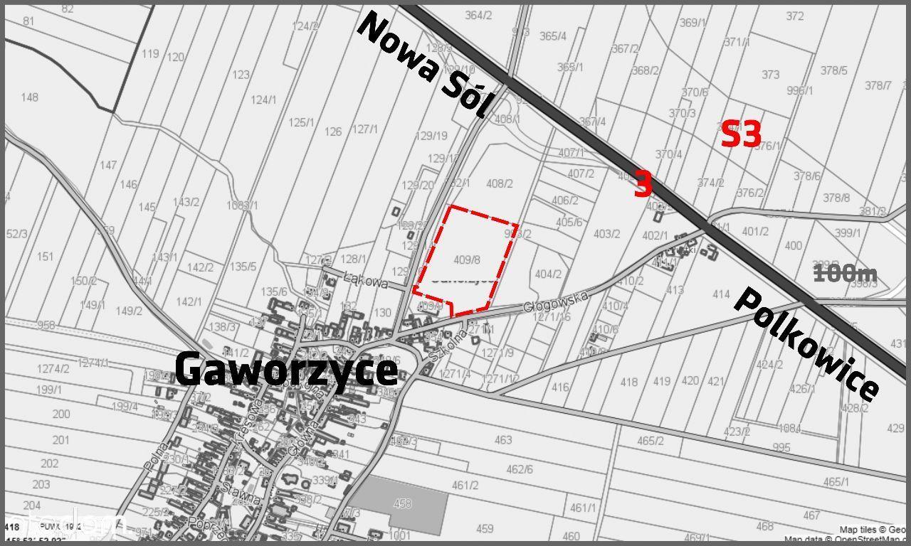 Działka na sprzedaż, Gaworzyce, polkowicki, dolnośląskie - Foto 1