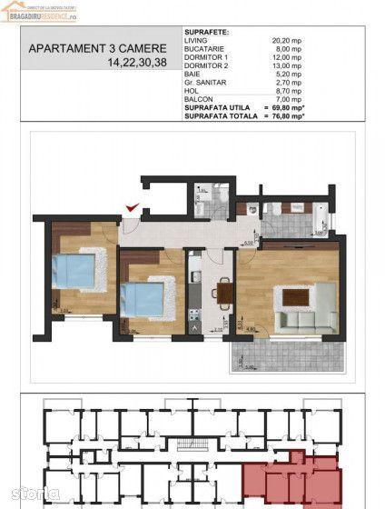 Apartament de vanzare, Ilfov (judet), Bragadiru - Foto 11