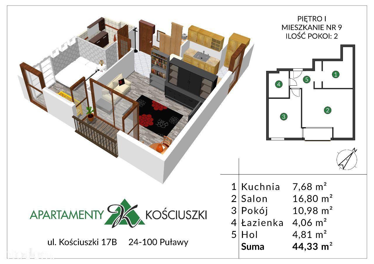 Mieszkanie na sprzedaż, Puławy, puławski, lubelskie - Foto 1010
