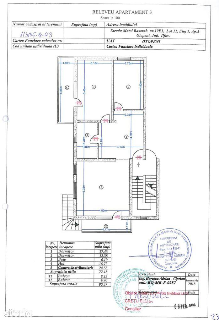 Apartament de vanzare, Ilfov (judet), Strada Porumbescu Ciprian - Foto 9