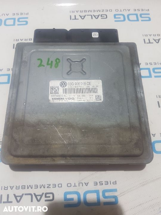 Calculator Motor / ECU VW Touran 2.0TDI AZV / BKD 2003 - 2010 COD : 03G906018CE / 03G 906 018 CE - 1