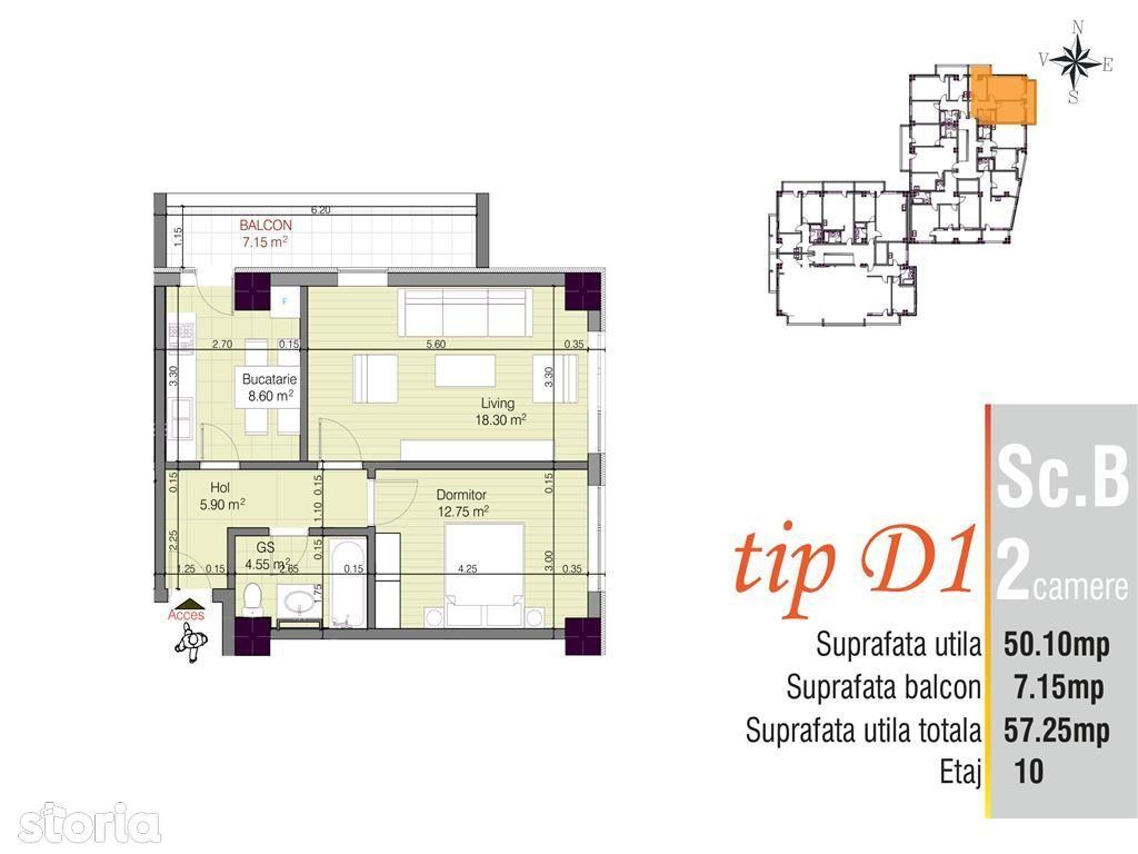 Apartament de vanzare, Iași (judet), Strada Anastasie Panu - Foto 2
