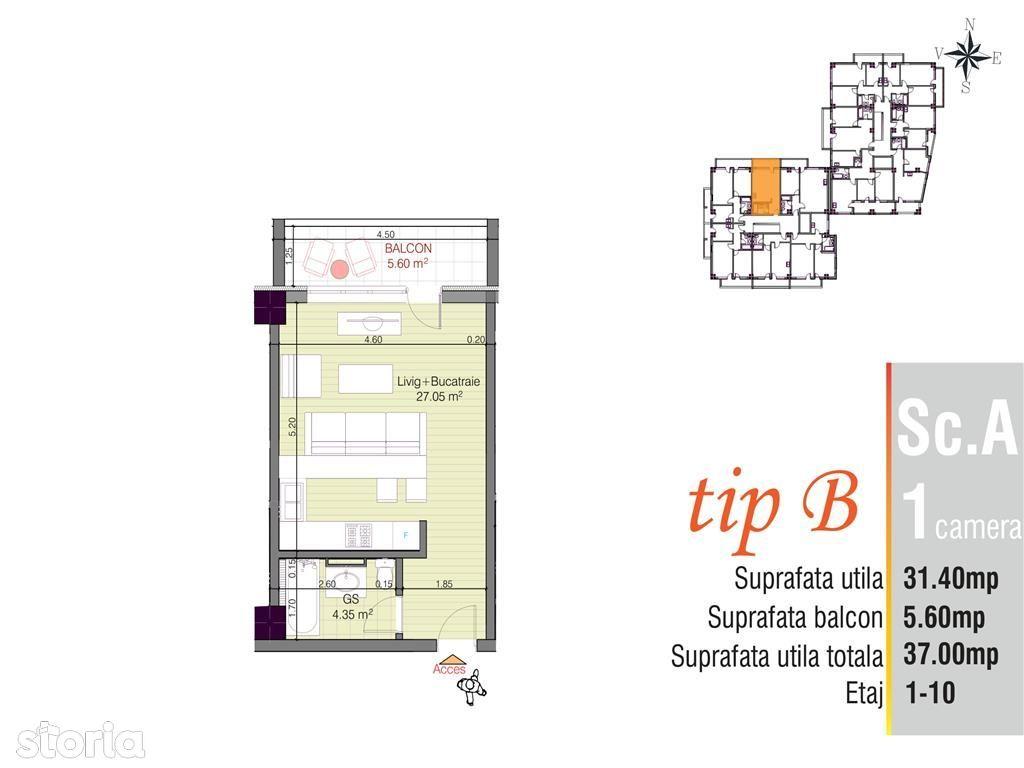 Apartament de vanzare, Iași (judet), Aleea Tudor Neculai - Foto 5