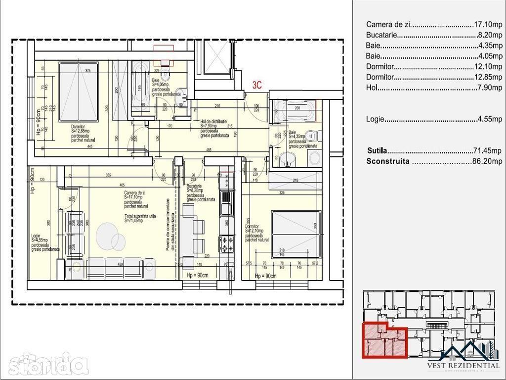 Apartament de vanzare, Ilfov (judet), Strada Panselelor - Foto 13