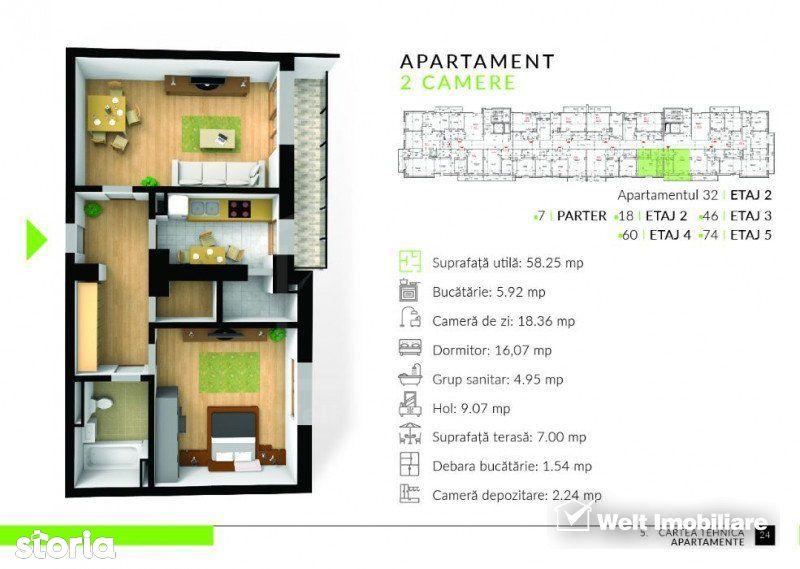 Apartament de vanzare, Cluj (judet), Colonia Sopor - Foto 3