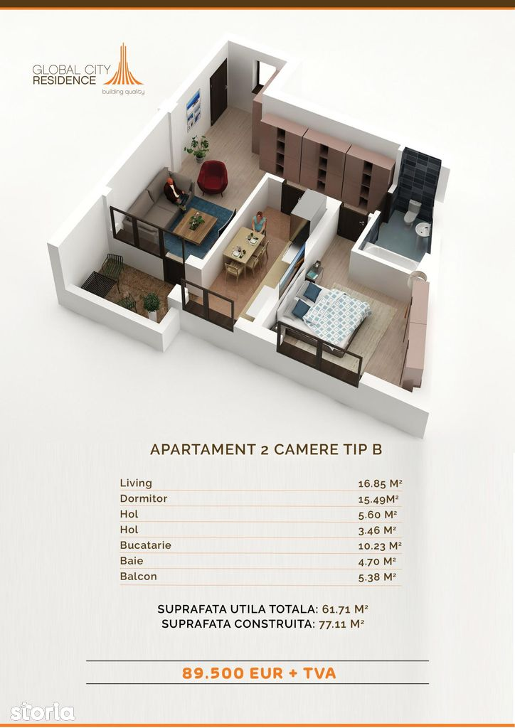 Apartament de vanzare, București (judet), Obor - Foto 1