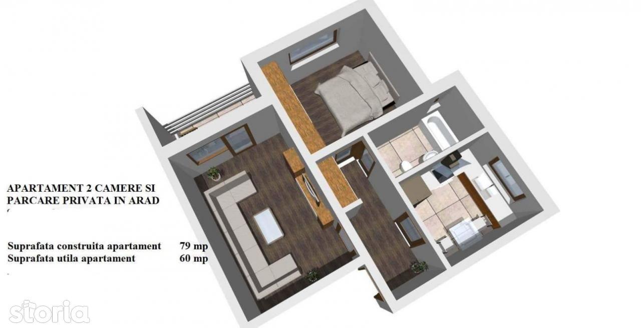 Apartament de vanzare, Arad (judet), Aurel Vlaicu - Foto 1
