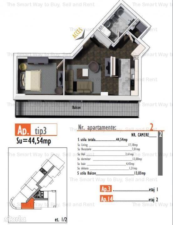Apartament de vanzare, Cluj (judet), Strada Bulgarilor - Foto 3