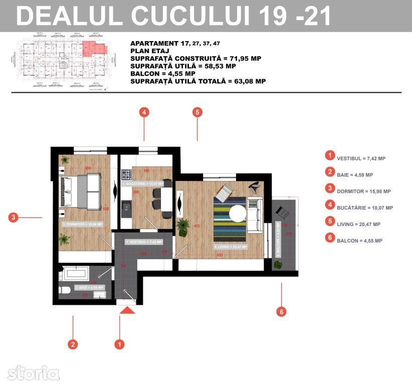 Apartament de vanzare, București (judet), Strada Poștalionului - Foto 10