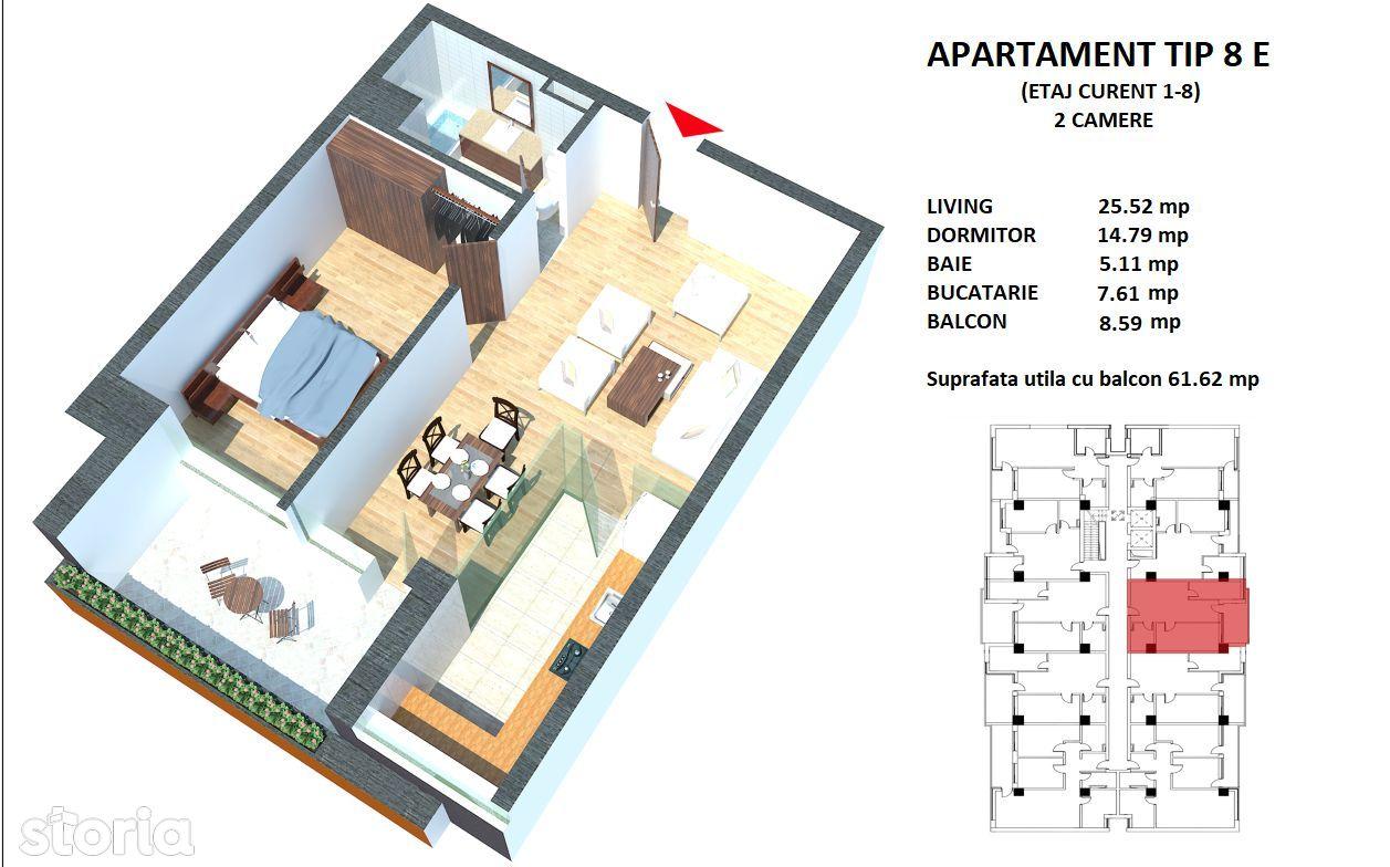 Apartament de vanzare, Constanța (judet), Sandu Chiosea - Foto 3