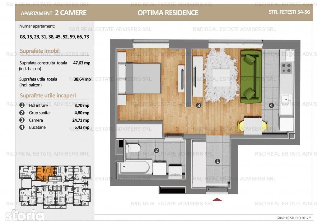 Apartament de vanzare, București (judet), Strada Fetești - Foto 1