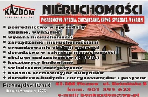 Biuro Obrotu Nieruchomościami KAZDOM Przemysław Kazuś