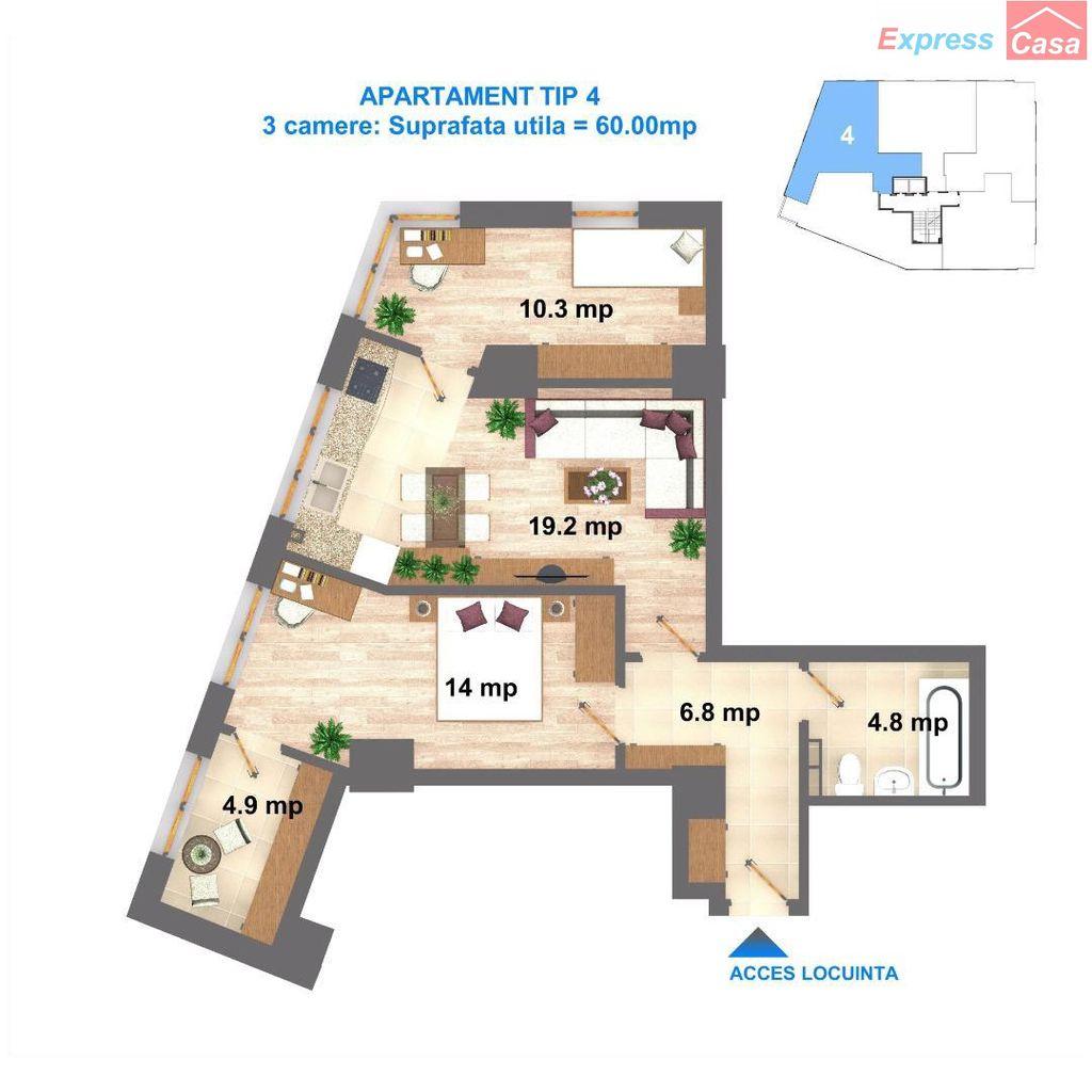 Apartament de vanzare, Iași (judet), CUG - Foto 3