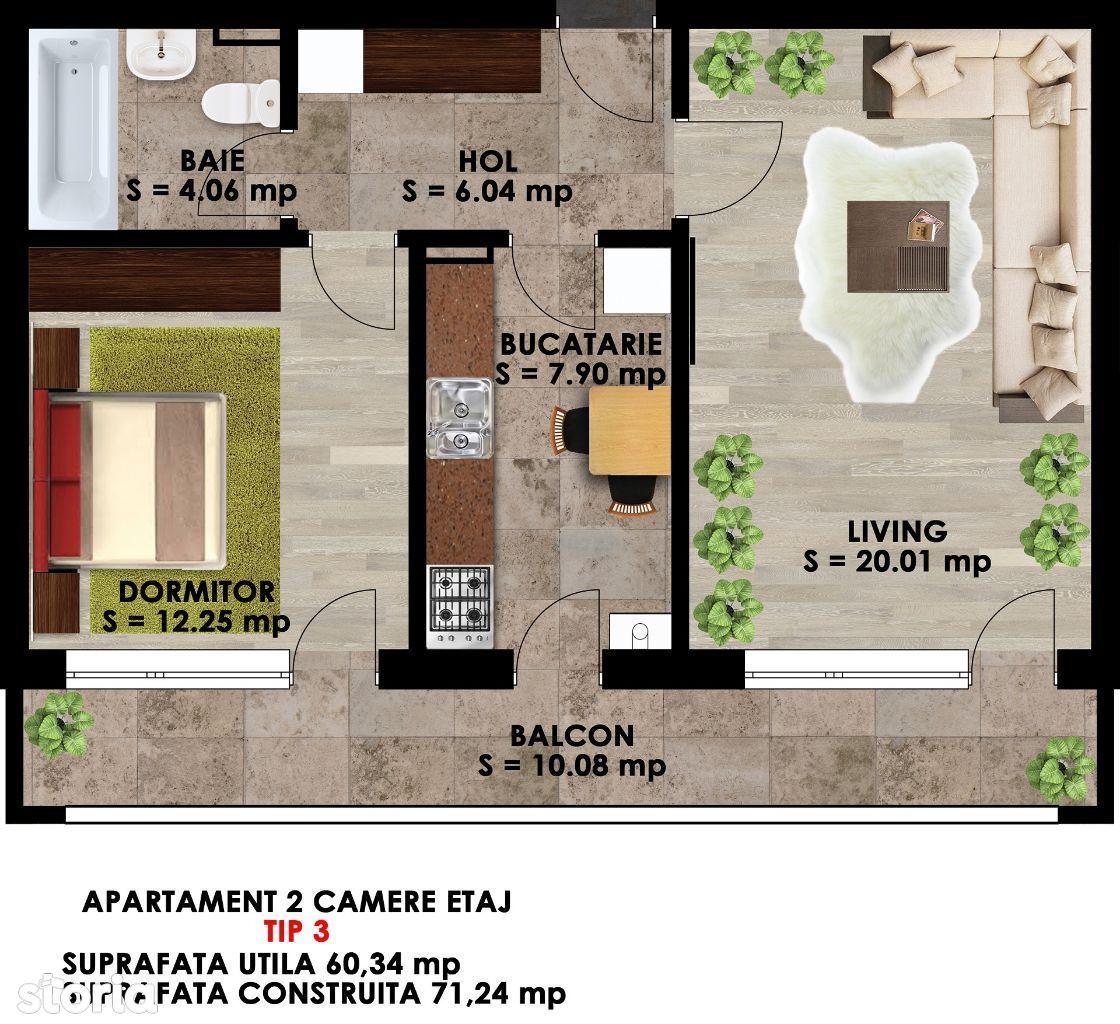 Apartament de inchiriat, Ilfov (judet), Măgurele - Foto 11