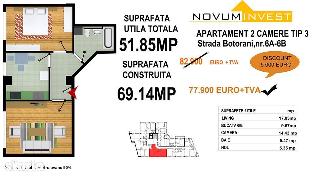 Apartament de vanzare, București (judet), Aleea Botorani - Foto 13